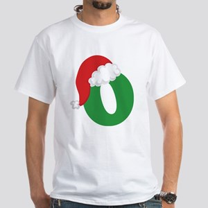Christmas Letter O Alphabet White T-Shirt