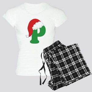 Christmas Letter P Alphabet Women's Light Pajamas