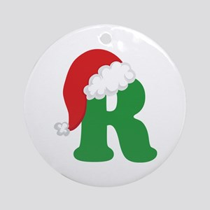 Christmas Letter R Alphabet Ornament (Round)