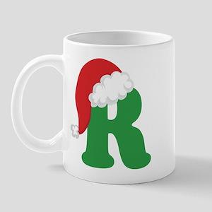 Christmas Letter R Alphabet Mug