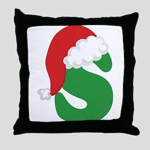 Christmas Letter S Alphabet Throw Pillow