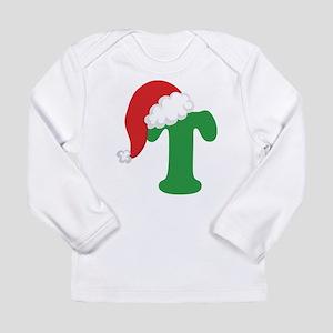 Christmas Letter T Alphabet Long Sleeve Infant T-S
