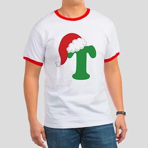 Christmas Letter T Alphabet Ringer T