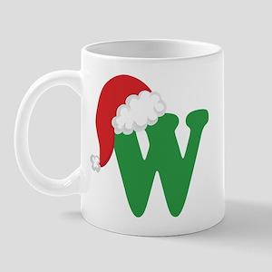 Christmas Letter W Alphabet Mug