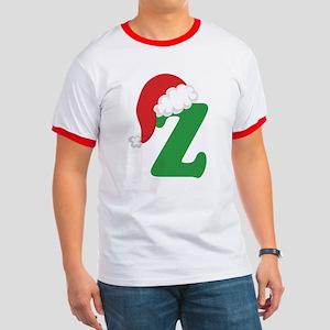 Christmas Letter Z Alphabet Ringer T