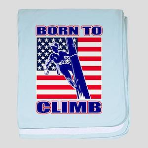american power lineman baby blanket