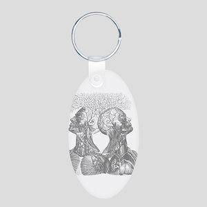 Mindblowing Aluminum Oval Keychain