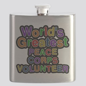 Worlds Greatest PEACE CORPS VOLUNTEER Flask
