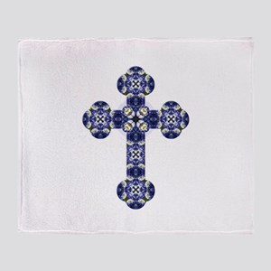 Bluebonnet cross Throw Blanket