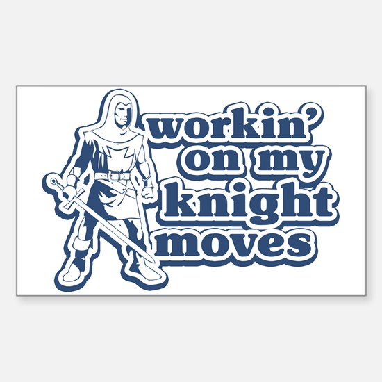 Knight Moves Rectangle Decal
