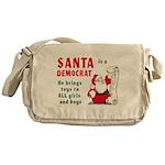 Santa is a Democrat Messenger Bag