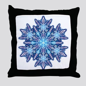 Snowflake 12 Throw Pillow