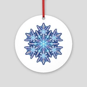 Snowflake 12 Ornament (Round)