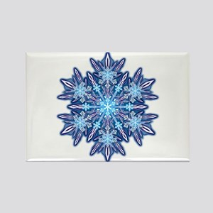 Snowflake 12 Rectangle Magnet