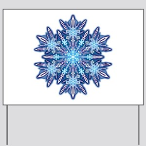 Snowflake 12 Yard Sign