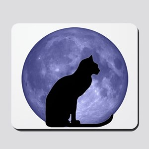 Cat & Moon Mousepad