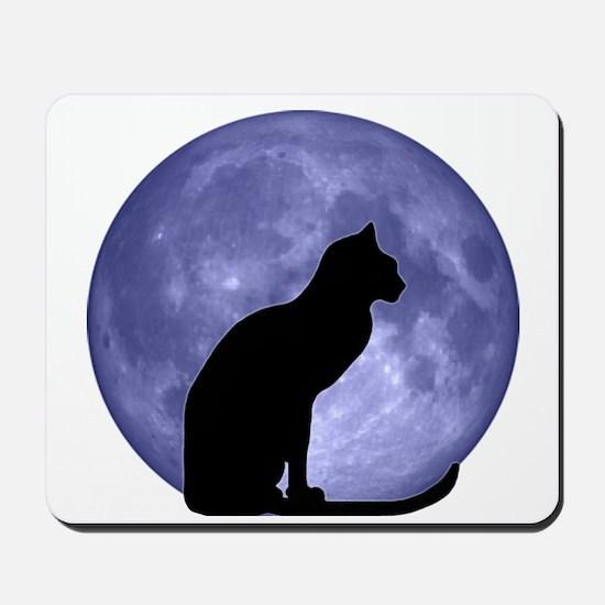 Cat & Moon Mousepad