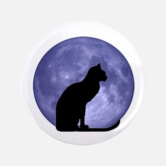 "Cat & Moon 3.5"" Button"