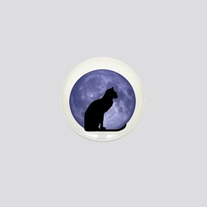 Cat & Moon Mini Button