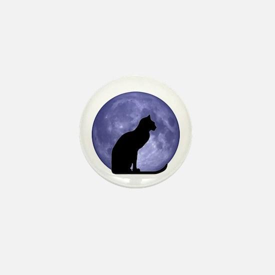 Cat & Moon Mini Button