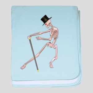 The Dancing Skeleton baby blanket