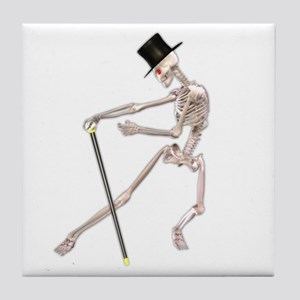 The Dancing Skeleton Tile Coaster