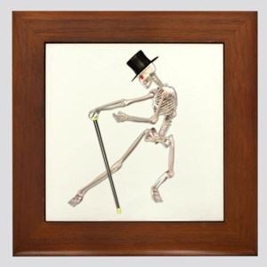 The Dancing Skeleton Framed Tile