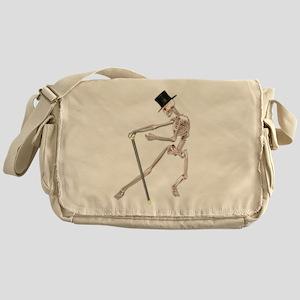 The Dancing Skeleton Messenger Bag