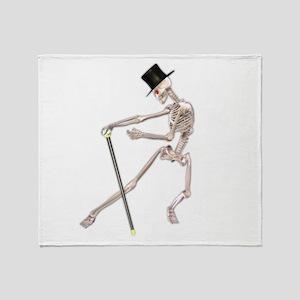 The Dancing Skeleton Throw Blanket