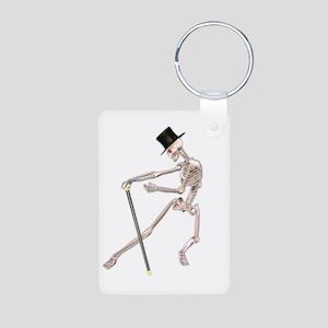 The Dancing Skeleton Aluminum Photo Keychain