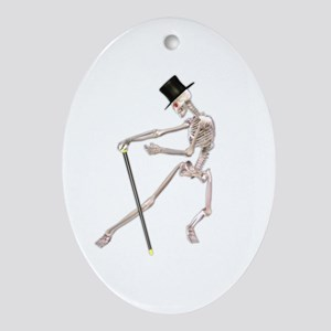 The Dancing Skeleton Ornament (Oval)