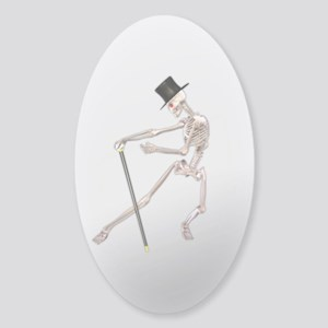 The Dancing Skeleton Sticker (Oval)