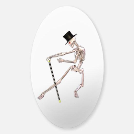 The Dancing Skeleton Sticker (Oval)