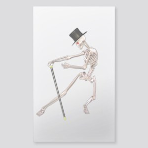 The Dancing Skeleton Sticker (Rectangle)