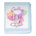 Guilin China Map baby blanket