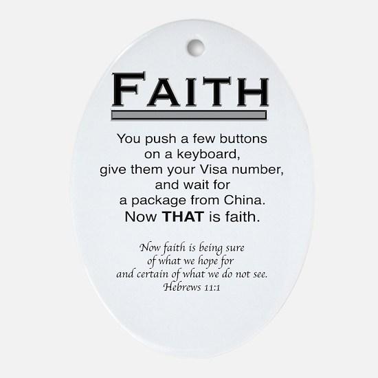 FAITH Ornament (Oval)