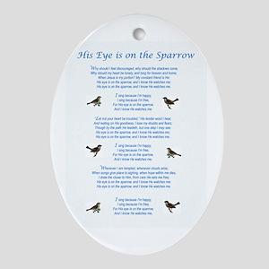 Eye On The Sparrow Ornament (Oval)
