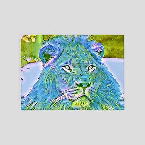 Funky lion 5'x7'Area Rug