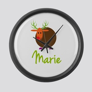 Marie the Reindeer Large Wall Clock