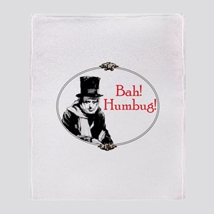 Funny Scrooge Quote Throw Blanket