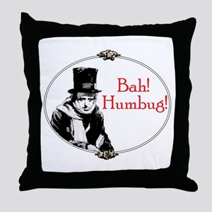 Funny Scrooge Quote Throw Pillow