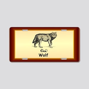 Young Cherokee Wolf Aluminum License Plate