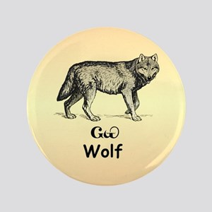 """Young Cherokee Wolf 3.5"""" Button"""