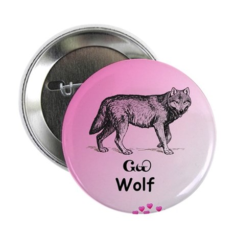 "Young Cherokee Wolf 2.25"" Button"