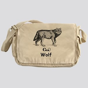 Young Cherokee Wolf Messenger Bag