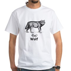 Young Cherokee Wolf White T-Shirt