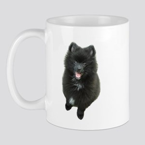 Adorable Black Pomeranian Puppy Dog Mug