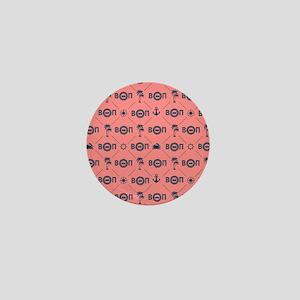 Beta Theta Pi - Coral Pattern Mini Button
