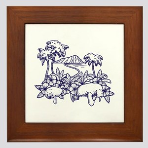 Surf island Framed Tile