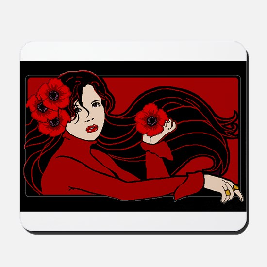 The Poppy Maiden Mousepad